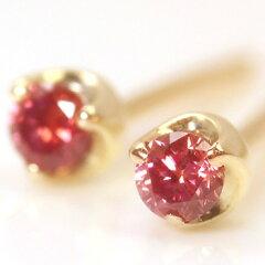 ピンクダイヤモンド/ピンクゴールド/ホワイトゴールド/ゴールドピアス/ダイアモンド/カラーダイ...