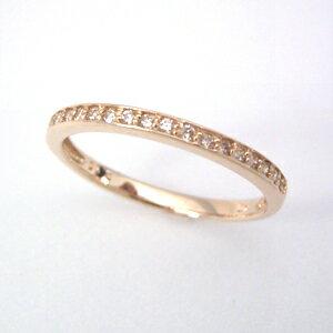 ダイヤモンド ピンクゴールド リング レディース 指輪・プリンセティス 誕生日プレゼント 華奢 シンプル ファッションリング 可愛い ゆびわ ジュエリー ブランド 宝石 おしゃれ