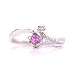 ピンクサファイア×ダイヤモンドリング