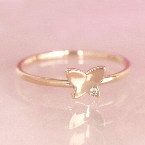 ダイヤモンド ゴールド リング レディース 指輪・エテルノ 華奢 シンプル ファッションリング 可愛い ゆびわ ジュエリー ブランド 宝石 おしゃれ