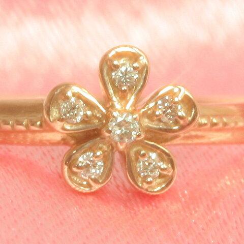 ダイヤモンド ゴールド リング レディース 指輪・レック 華奢 シンプル ファッションリング 可愛い ゆびわ ジュエリー ブランド 宝石 おしゃれ