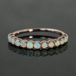 オパールリング指輪レディースジュエリー・ラパンヌエタニティK1010K10金ピンクゴールドゴールドホワイトゴールド誕生日プレゼント女性クリスマスジュエリーギフト可愛いリング彼女