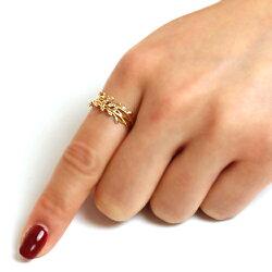 宿り木リング指輪レディースジュエリー・イレーネK1010K10金ゴールドピンクゴールドホワイトゴールドヤドリギダイヤモンドおしゃれ誕生日プレゼント女性クリスマスジュエリー彼女ギフトジュエリーコンテスト