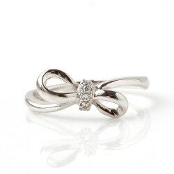 【対応】【11号限定】ダイヤモンド×K10ホワイトゴールドリング・ジュネス※こちらが最後の入荷です。再入荷はございません。