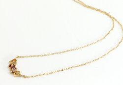 7カラージュエル10K10金K10ゴールドピンクゴールドホワイトゴールドネックレスレディースペンダント・レオハート虹アミュレットお守りラッキーカラーストーンモチーフジュエリーラッキーアメジストガーネットアイオライト女性誕生日プレゼント