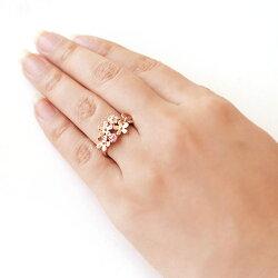 ダイヤモンド/ピンクサファイア×カラーゴールドリング・ブロッサムグランデ