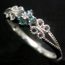 エメラルドマイン社ブラジル産アレキサンドライト×ダイヤモンド×K18ホワイトゴールドリング・ステファンノ