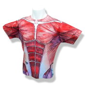 Tシャツ筋肉柄フルプリント「フルプリント筋肉デザインTシャツ」