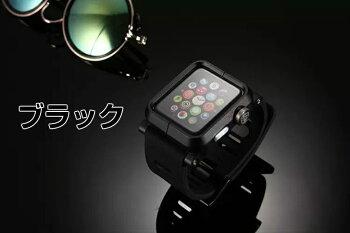Applewatchベルトラバーベルト42mm専用プロテクトカバー一体型アップルウォッチiwatch工具扶養アイウォッチ時計ベルト腕時計用ベルト