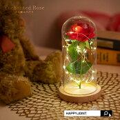 光る魔法のバラ