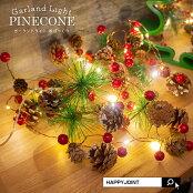 クリスマスデコレーションの光るガーランドライト