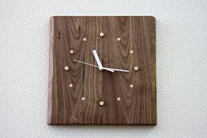 時計 木製時計 木の時計 電波時計 壁掛け時計 オーロラ ウォールナット 天然木 無垢 リビング ダイニング 寝室 玄関 インテリア 壁掛け 贈り物 贈答 ギフト【smtb-KD】