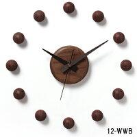 壁掛け時計/サテライトクロック12-WWB