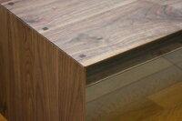 センターテーブル/ボルドー110ウォールナット面縁