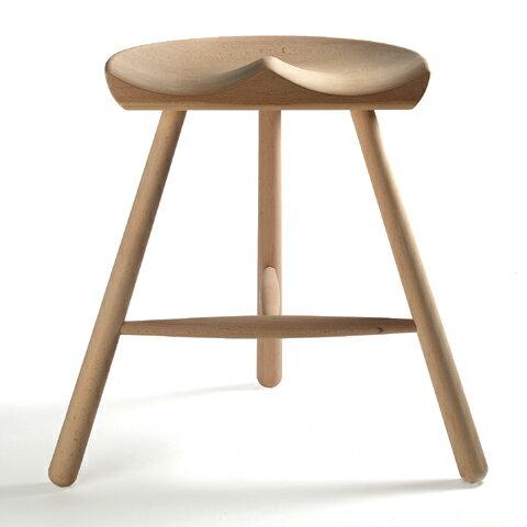 シューメーカー チェア 59 スツール 椅子 座面高さ56cm ワーナー WERNER 北欧 天然木 ブナ 無垢 3本脚 無塗装 デザイン【smtb-KD】