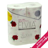 【可憐なローズのフレグランス】エルビラ バラの香り トイレットペーパー ダブル(4ロール)【花柄 プリント柄】