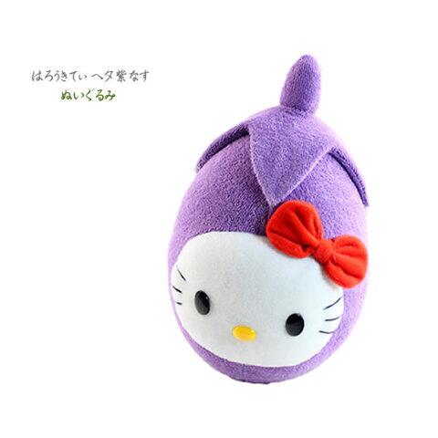 【海外販売NG】 ご当地キティ 金沢限定「加賀野菜(ヘタ紫なす)/ぬいぐるみM」