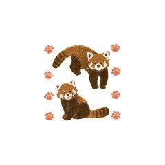 可愛いアニマルシールで携帯をデコ電♪うつし金蒔絵「動物園の仲間たち/レッサーパンダ」【あす...
