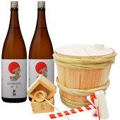 2升(3.6リットル)杉樽【自分で作る本格樽酒、鏡開きセット】※お酒別売