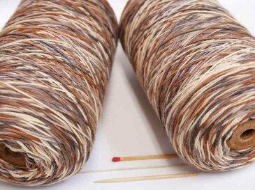 【ウールカスリ(新)(茶×ベージュ系)】 手織りの方にも、手編みの方にもおすすめ♪カスリ(段染め)の毛糸で奥行きのある表情に!【手織向き、手編向き・毛糸】