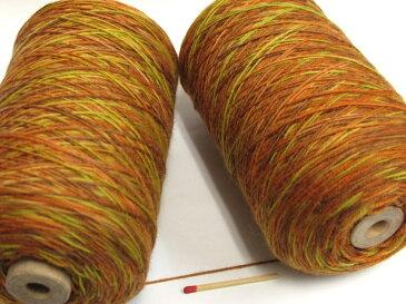 【ウールカスリ(茶×カラシ系)】 手織りの方にも、手編みの方にもおすすめ♪カスリ(段染め)の毛糸で奥行きのある表情に!【手織向き、手編向き・毛糸】