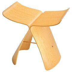 【送料無料】 日本を代表する家具メーカー「天童木工」のバタフライスツール 実用的・インテリ...