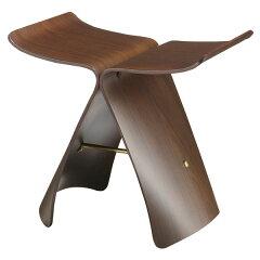 【送料無料】日本を代表する家具メーカー「天童木工」のバタフライスツール実用的な家具として...