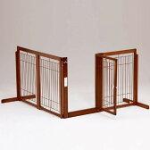 「コーナーゲートF80XLメッシュ」ペットゲート 木製 室内 ペット用ゲート 犬 ゲート ドア付き 自立型