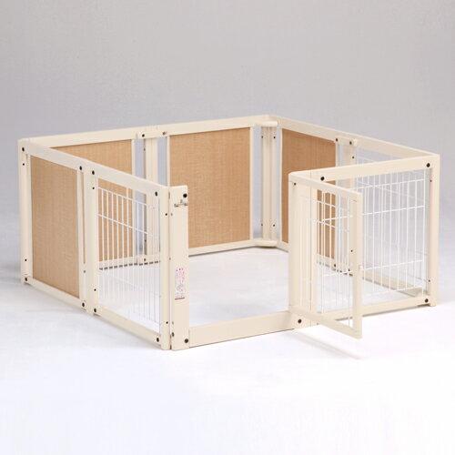 『ペット サークル F60XLメッシュB』日本製 木製 ペットサークル 小型犬用 :キンタローのウッドクラフト