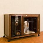 ペットケージ [ ペット ケージ ハウス AS88 + ニュークリネスシート AS88用 ] 木製 小型犬 ゲージ おしゃれ 室内用 スライド屋根付き キャスター付き マット付き 日本製