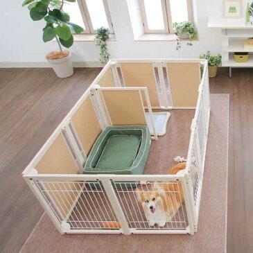 『サークル プラス F 80 XLp メッシュ』 日本製 木製 ペットサークル 大型犬 サークル サークル 多頭飼い