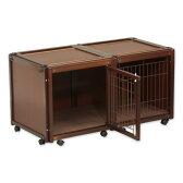 『ペットケージ FR 60 S メッシュ』犬 ゲージ 犬 ケージ おしゃれ 小型犬 木製 室内 サークル・ケージ サークル・ゲージ