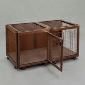 『ペットケージ FR 60 S メッシュA』犬 ゲージ 犬 ケージ おしゃれ 小型犬 木製 室内 サークル・ケージ サークル・ゲージ