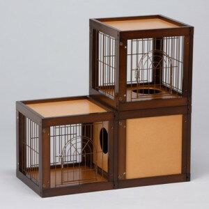 「キャット ケージ マンション 3部屋セット」 猫 木製 キャットケージ 猫ケージ 2段 多頭飼い 猫用 ペットケージ [セール]