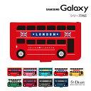 Galaxy ギャラクシー ケース galaxy S10 S10+ feel2 Note9 S9 S9+ galaxy S8 S8+ feel 手帳型 手帳 スマホケース バス ロンドン 車