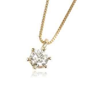 K18YG0.2ctダイヤモンドネックレス