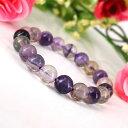 天然石 紫フローライトブレスレット UU (natural stone bracelet) 天然...