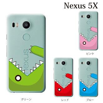 覆蓋生吞活剥nekusasukaba Nexus 5X Ymobile情况Nexus 5X覆蓋物Nexus 5X情况清除硬體情况智慧型手機情况智慧型手機,携帶,怪獸被覆蓋