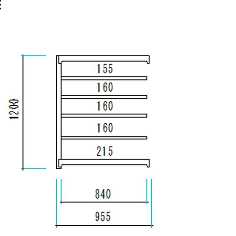 中量 スチールラック AMBL型 300Kg ボルトレスタイプ 1200H×900W×620D 6段 増連 オフィス 倉庫 店舗 整理棚 業務用 【大型・重量商品】