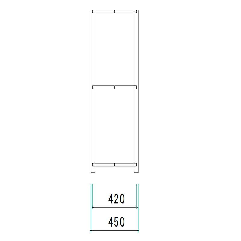 軽中量 スチールラック ATS型 200Kg ボルトレスタイプ 1800H×1500W×450D 3段 単体 オフィス 倉庫 店舗 整理棚 業務用 【大型・重量商品】