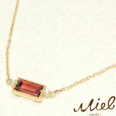 Rectangle Garnet(レクタングルガーネット)miel jewelry(ミエルジュエリー)『ハニートラップ』...