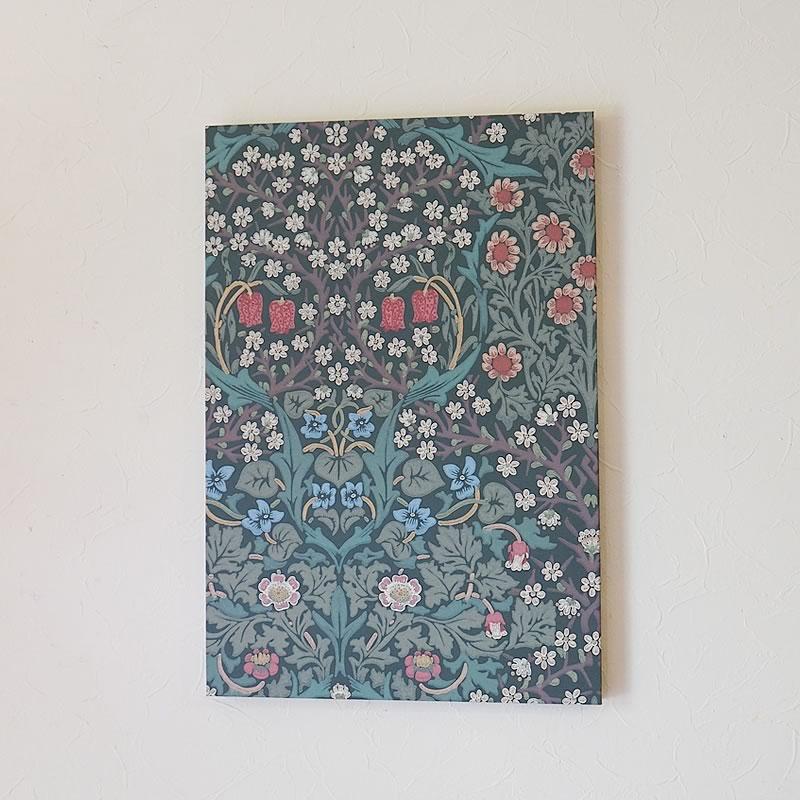 ウィリアムモリス アートパネル ロング版 壁紙使用「ブラックトーン Blackthorn」William Morris 高級木製パネル使用【送料無料】絵画 インテリア 絵画 額入り おしゃれ 額絵 フレーム アートフレーム