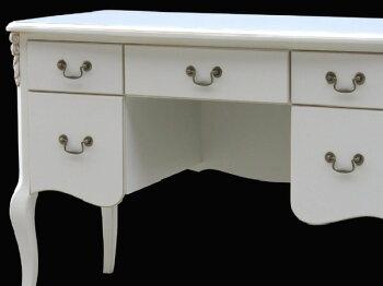 輸入家具:Flore(フローラ):デスク:机(白家具)