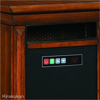 電気式暖炉:ロイドグランデ【リビングストーン(ローリングタイプ1000W)ウォールナット】
