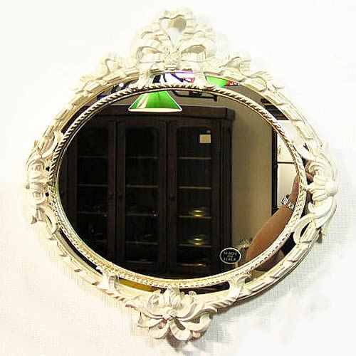 イタリア ウォールミラー Mirror アンティークホワイト【送料無料】イタリア ミラー 壁掛け おしゃれ ミラー アンティーク 姿見 ミラー 全身 壁掛け 鏡 壁掛け アンティーク 鏡 壁掛け おしゃれ 北欧 ロココ インテリア雑貨 おしゃれ 玄関