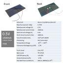 0.5V 1500mA 110mm * 55mm (単結晶)工作用 ソーラーパネル 太陽電池