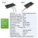 2V 100mA 30mm * 60mm (単結晶)工作用 ソーラーパネル 太陽電池