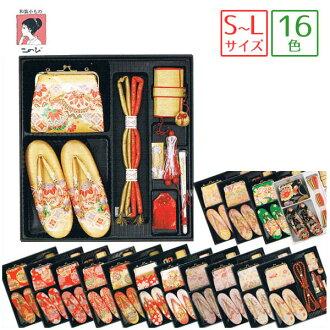 Hakoseko 集的 7 件套 (袋、 涼鞋、 胸悶、 g、 魅力、 別墅的針腳和風扇) 16 模式 < 手鞠、 櫻桃和菊花,雪車輪,蝴蝶和 > 金、 奶油和黑色、 紅色或白色、 米色粉紅色 / 綠色 / 歌舞伎町 / 筥迫設置 / 強迫的套盒 / hacocecoset / 3 歲、 5 歲和 7 歲