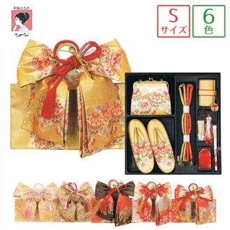 過去的 8 分的六種模式 < 手鞠、 菊花和雪兔子、 錐地面梅花領帶 > 黃金、 奶油、 橙色、 紅色和米色腰帶 (皮帶、 包、 涼鞋、 胸悶和 g 和護身符和別墅一半和風扇) hakoseko / 歌舞伎町 / 筥迫 / 箱強迫的套和 hacoceco 設置 / 製作 / 樂隊和年僅 3 歲