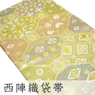 在日本仍然裁縫 / 金 / 連衣裙 / 長袖連衣裙花府久呂關於 Miyabi 舒長江 < 粉紅色、 金色、 紫色和綠色 > 金 Kumi biosystemshiroshi / tomesode / 前往日低固色 /